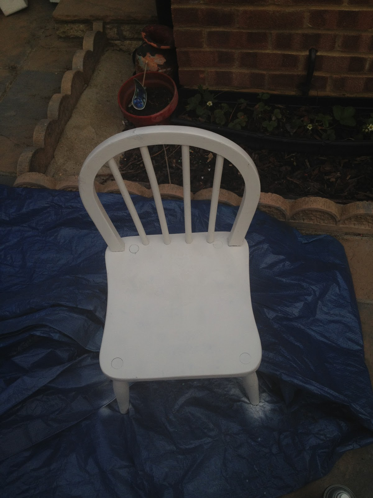 A white chair
