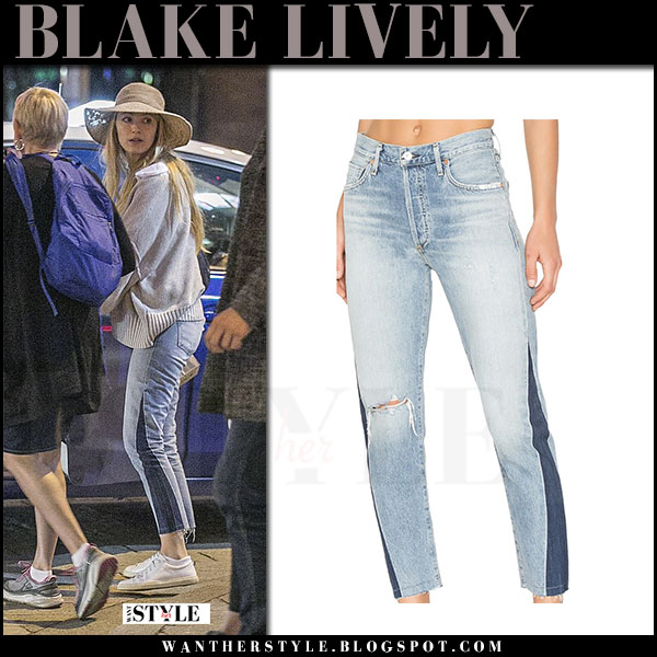 Blake Lively in side seam jeans citizens of humanity what she wore june 18 2017
