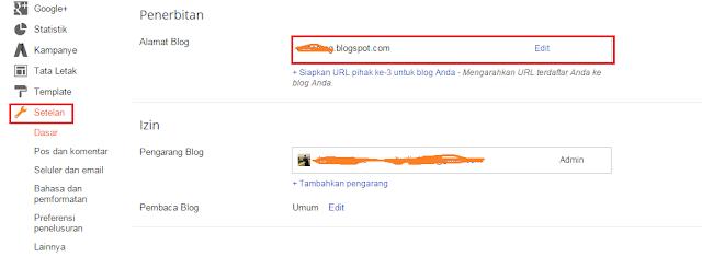 Merubah Alamat Url Blog