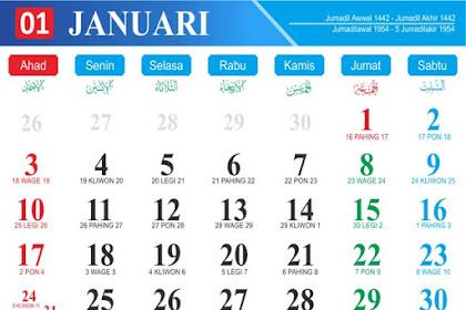 Download Template Kalender 2021 CDR dan PDF Gratis