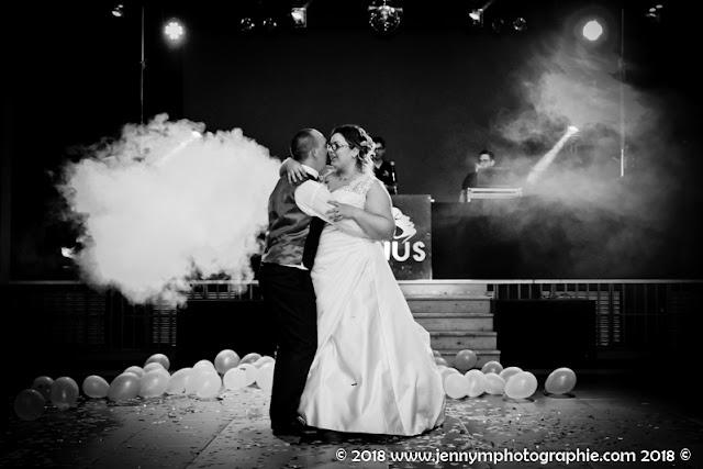 photo noir et blanc ouverture de bal mariage