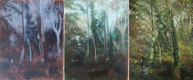Southampton common oil painting WIP