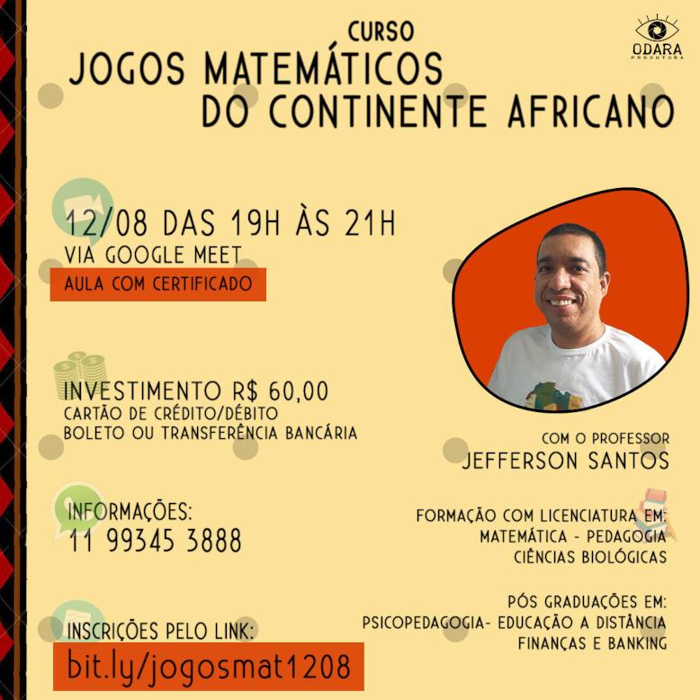 Conheça a história dos povos africanos por meio dos jogos matemáticos! Participe do nosso curso: Jogos Matemáticos do Continente Africano.