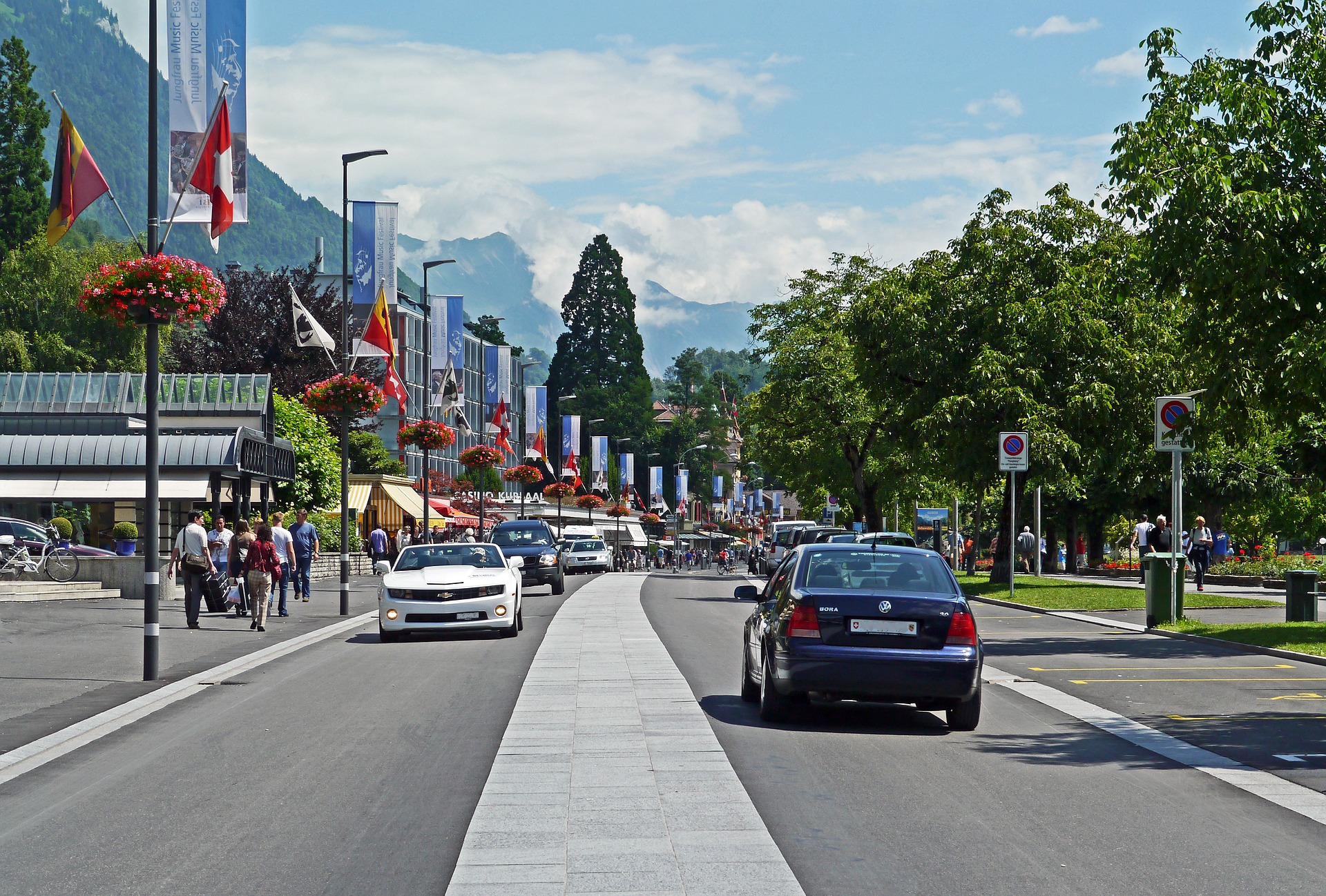 A main road in Switzerland