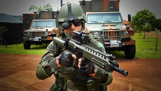 Image Attribute: SISFRON enabled Brazilian Soldier
