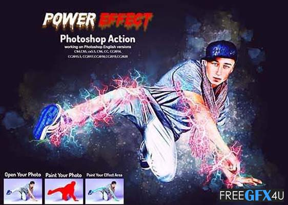 Power Effect Photoshop Action