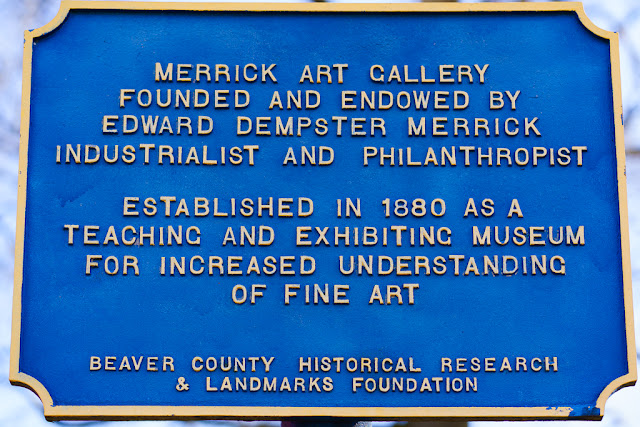a photo of the historic placard at the merrick art gallery in pennsylvania