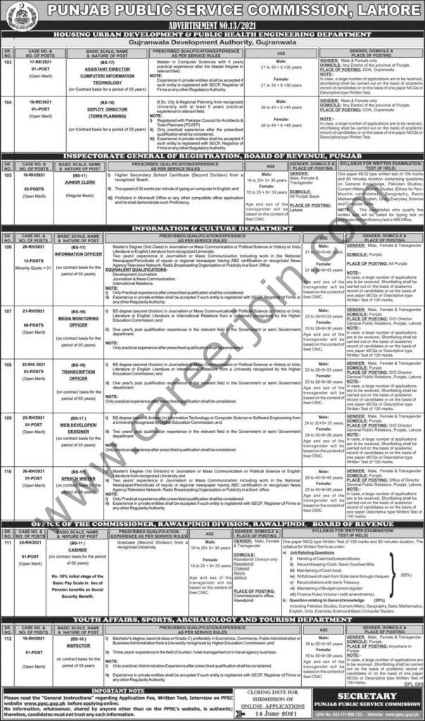 Punjab Public Service Commission PPSC Jobs 2021 in Pakistan