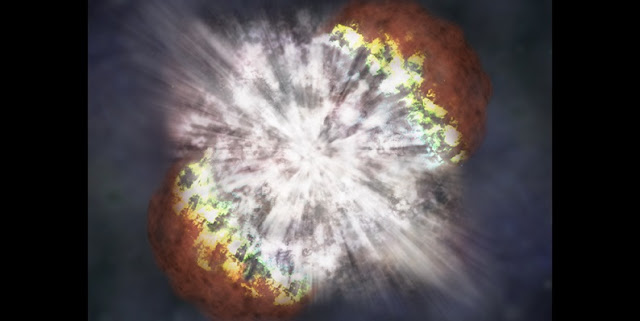 "Supernovae bombarded Earth with cosmic energy starting as many as 8 million years ago, with a peak some 2.6 million years ago, initiating an avalanche of electrons in the lower atmosphere and setting off a chain of events that feasibly ended with bipedal hominins such as homo habilis, dubbed ""handy man."" Credit: NASA."