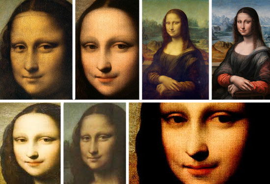 Mona Lisa smile variation comparison