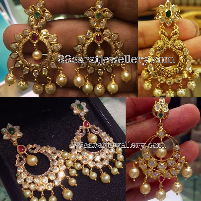 Latest Pachi Work Large Chandbalis
