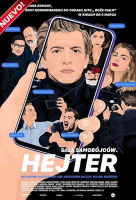Sala samobójców. Hejter (The Hater) 2020 DVD HD NTSC Latino + Sub F