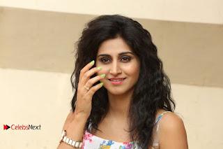 Actress Shamili Stills in Floral Short Dress at Sree Ramaraksha Song Launch  0197