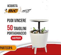 Logo BIC '' Friends of BBQ'': vinci 50 tavolini portaghiaccio Keter