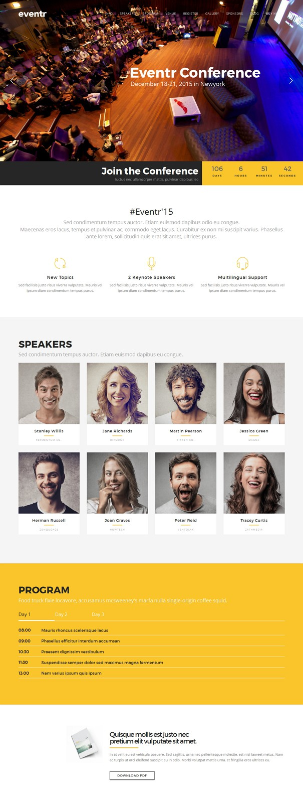Best Event WordPress Theme