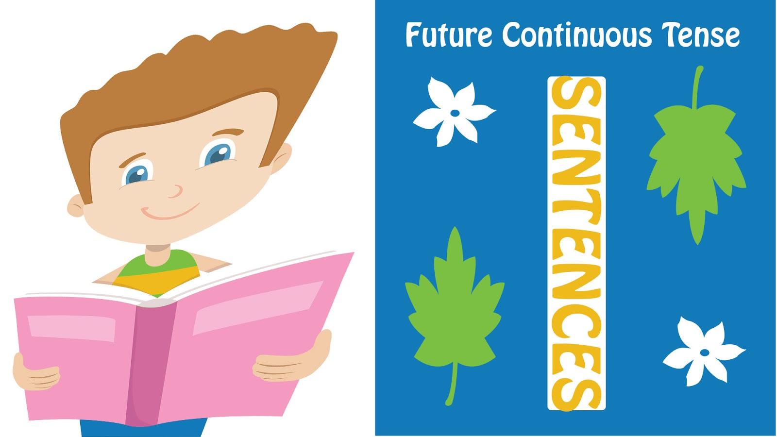 future continuous tense sentences image