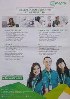 Lowongan Kerja Karir PT Meprofarm Pharmaceutical Industries 2020