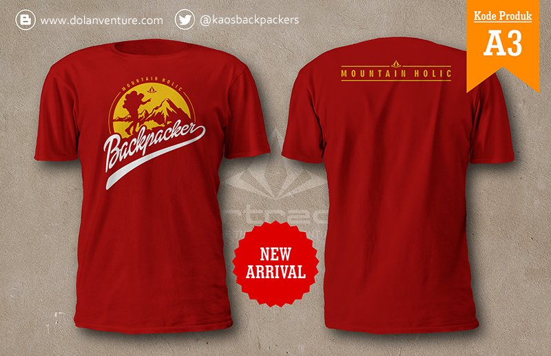 Jual Kaos Backpacker Indonesia