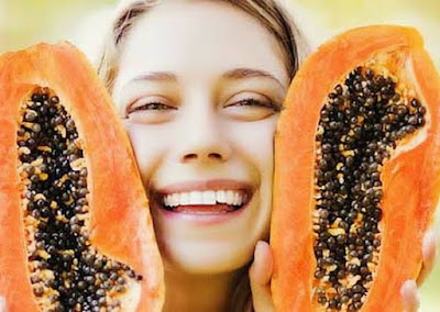 Summer facial Pack for sensitive skin using papaya