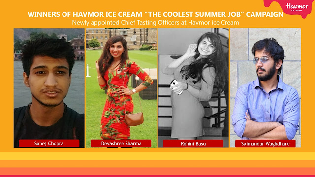 "Havmor Ice Cream Ltd announces winners of ""The Coolest Summer Job"" campaign"