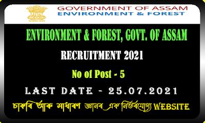 Pollution Control Board of Assam Recruitment 2021(5 Vacancy)