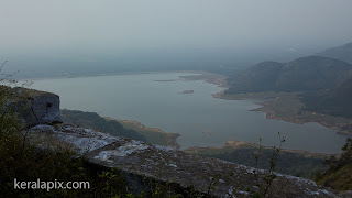 Top view of Aliyar dam reservoir from Loam's View Point