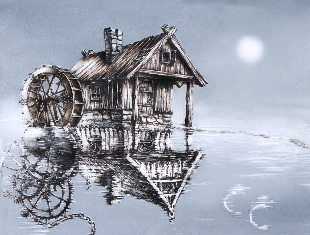 10-Steampunk-Reflections-Elwira-Pawlikowska-Gothic-and-Steampunk-style-Architecture-with-Ink-and-Watercolor-Illustrations-www-designstack-co
