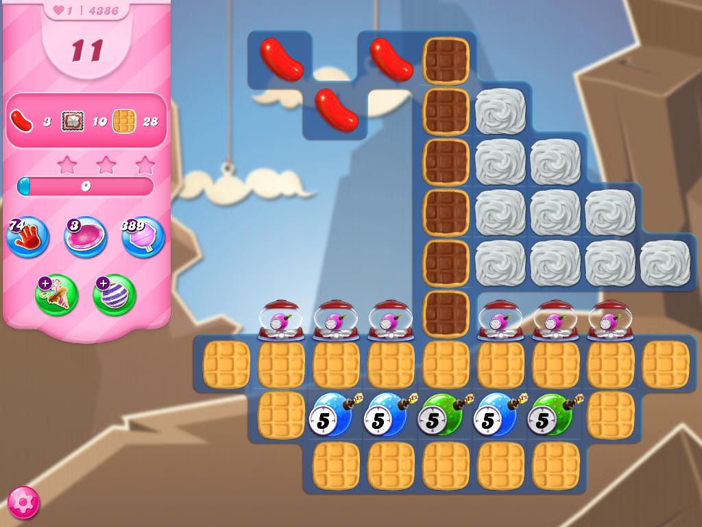 Candy Crush Saga level 4386
