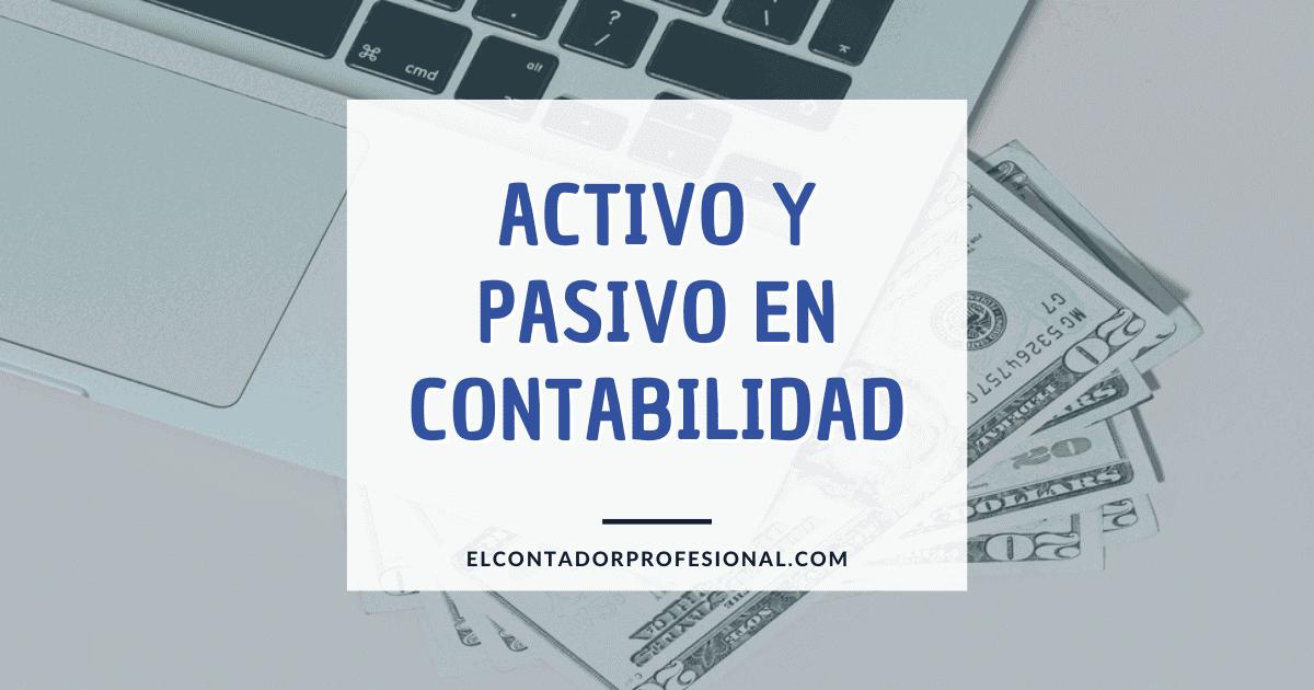 activo y pasivo contabilidad