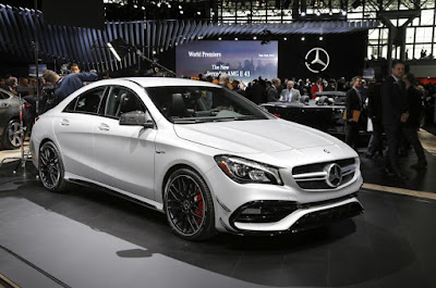 Mercedes CLA Facelift in auto show Hd Images