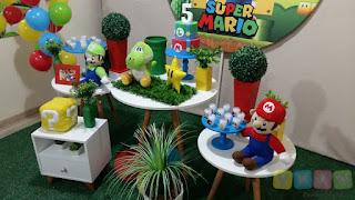 Decoração festa infantil Super Mario Bros