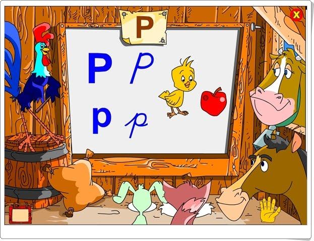 """Silabario-luz: La letra """"P"""" (Aplicación interactiva de Lectoescritura de Infantil)"""