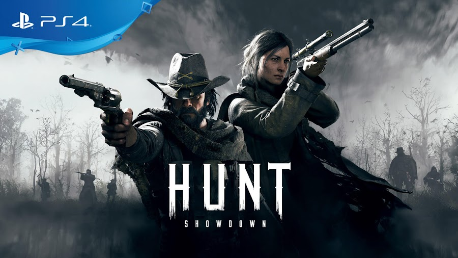 hunt showdown playstation 4 first-person online multiplayer survival horror shooter crytek bounty hunting game