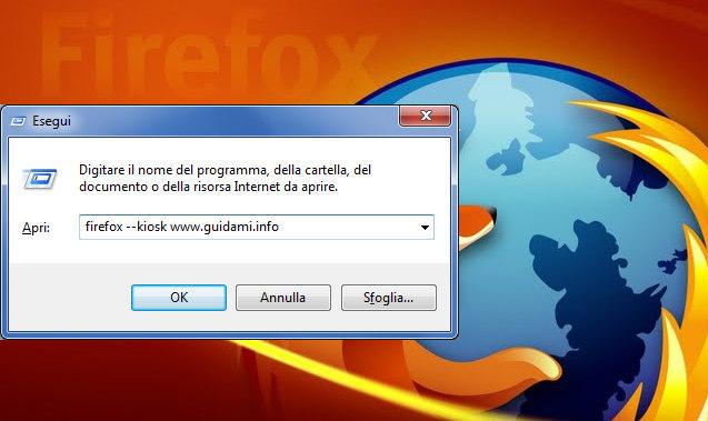 Finestra di dialogo Esegui Windows 7