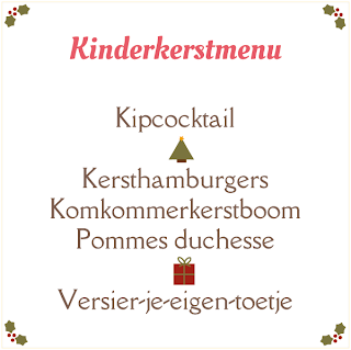 Kinderkerstmenu - samenwerking met In a flow around the world
