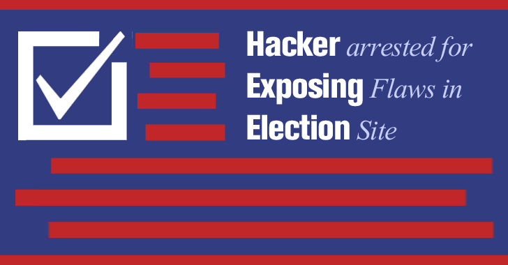 Hacker arrested after Exposing Flaws in Elections Site