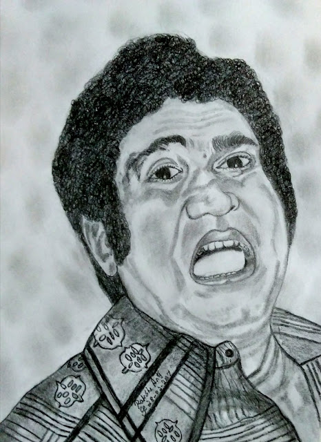 PENCIL DRAWING - ACTOR SURULI  RAJAN