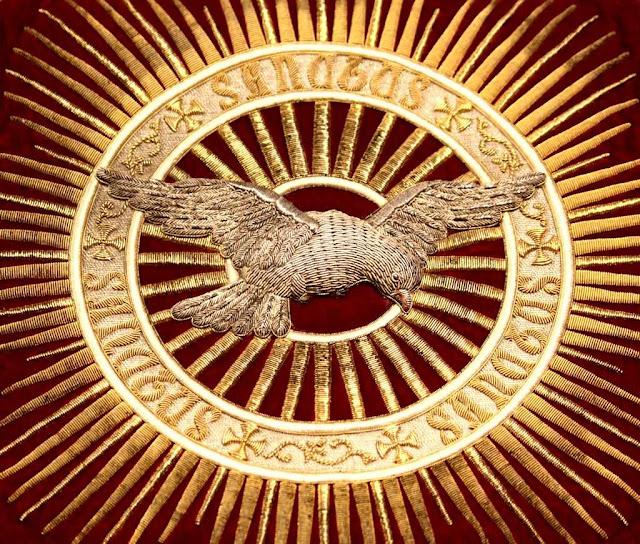 Espírito Santo. Bordado pelas dominicanas de Stone, Staffordshire, Inglaterra.