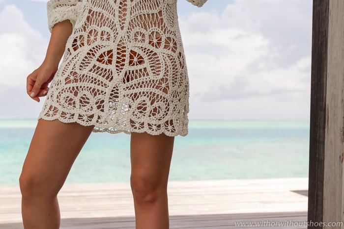vestido de ganchillo de Zara