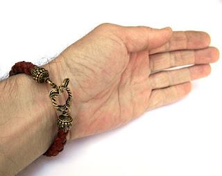 купить мужской браслет из кожи браслет коричневый кожаный куплю интернет магазин