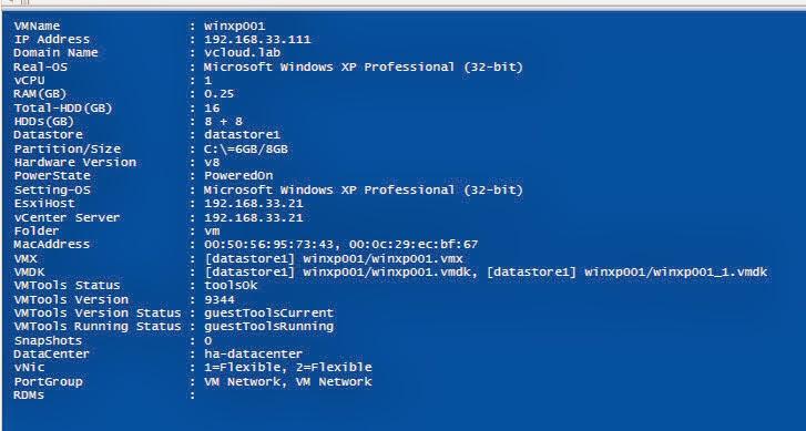 vGeek: Extended VM inventory using powercli