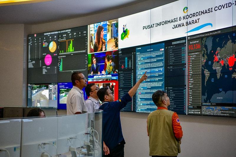 Pusat Informasi dan Koordinasi COVID -19 Jabar Resmi Beroperasi