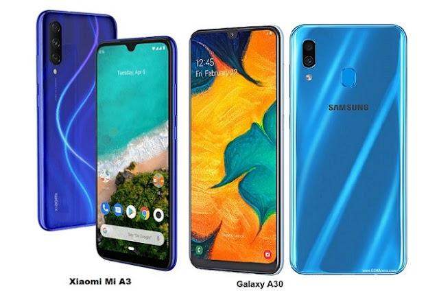 Xiaomi Mi A3 Vs Samsung Galaxy A30 Specs Comparison