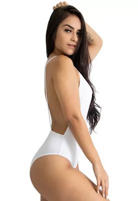 Body cavado com decote nas costas branco. Tecido suplex, não possui bojo. _x000D_Tamanhos P M G GG.