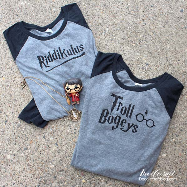 Harry Potter themed shirts to wear to Universal Studios and the Wizarding World, Riddikulus and Troll Bogeys