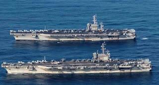 2 Kapal Induk Amerika Serikat di laut Cina selatan