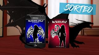 Imagen de animación. Un dragón negro tiene un libro en papel de Mekronos y una tablet con la portada de Mekronos Metamorfosis, libros de Gema López Sánchez. El dragón está en el suelo de un dormitorio.