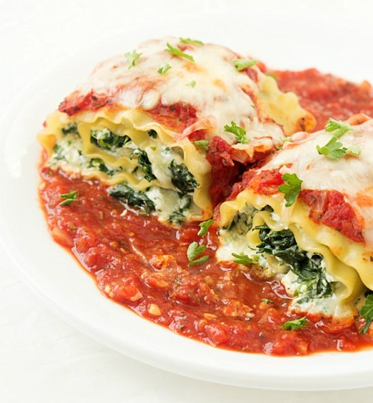 Spinach Lasagna Roll-Up #spinach #easyrecipe