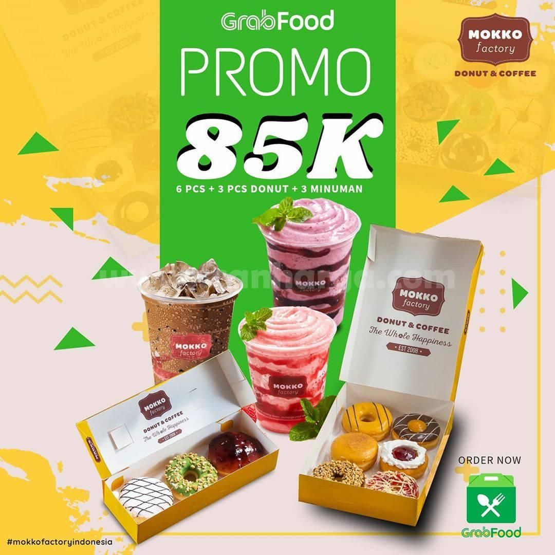 Mokko Factory Promo 9 pcs donuts + 3 minuman cuma Rp 85rb via Grabfood