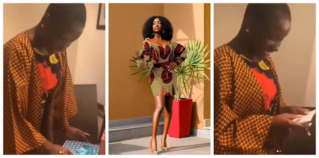 Lovely Moment as BBNaija Saskay fans gifts her Iphone12 pro (Video)